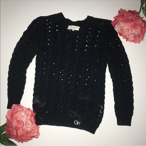 Navy blue gilly hicks sweater